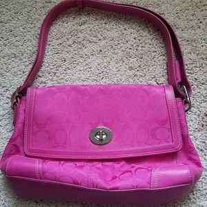 Coach Signature Collection Pink Purse - Used Once!